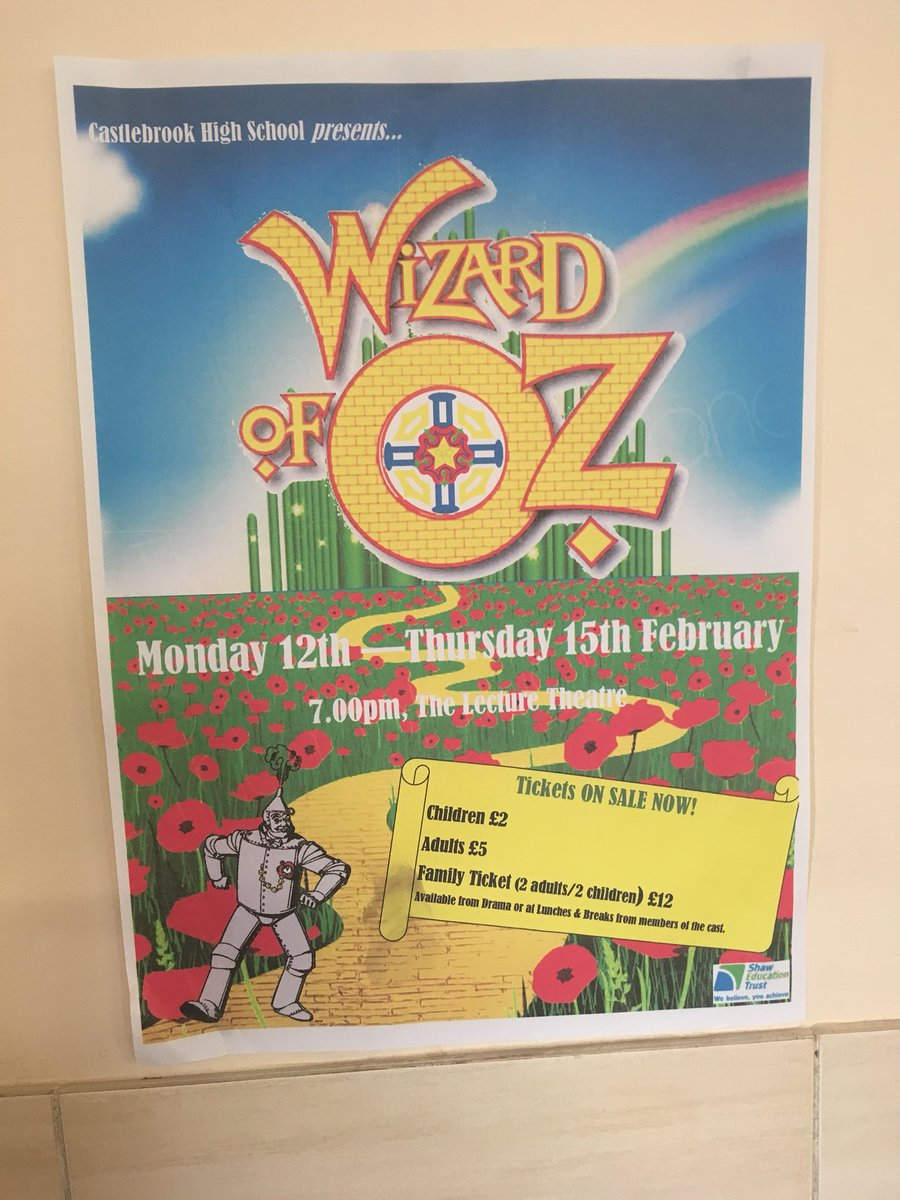 test Twitter Media - Wizard of Oz! Next week, tickets available Monday to Thursday. Purchase on the door - fantastic event every year!! #cbhswoz https://t.co/WwazSrpHFV