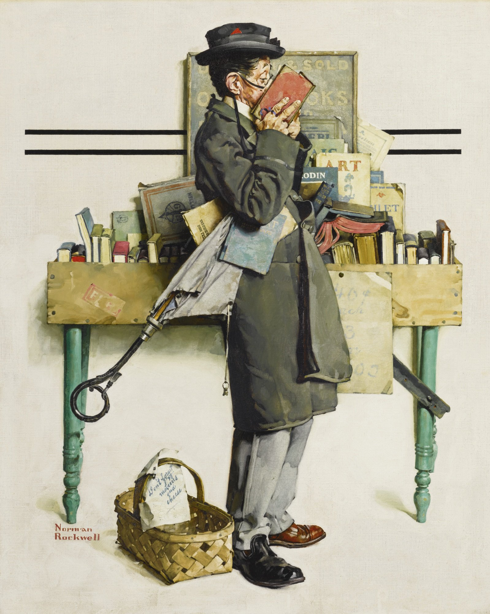 Bookworm, 1926 Norman Rockwell #painting #illustration https://t.co/EP55hIaDv1