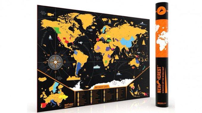 Win Scratch Off USA Map