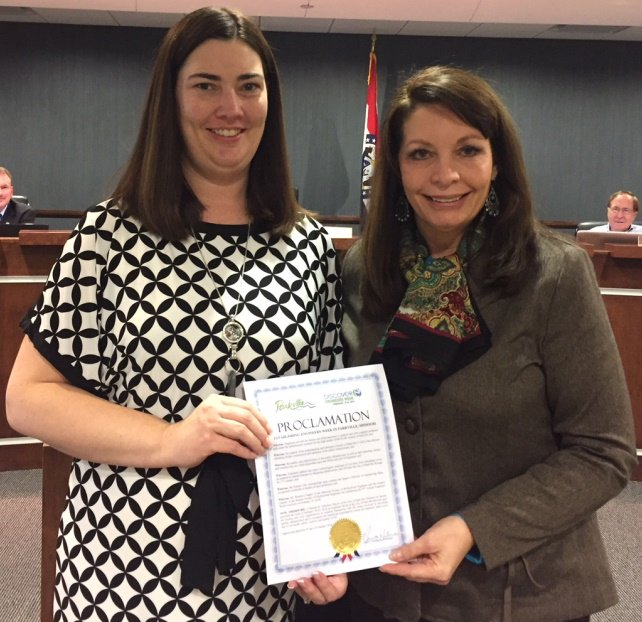 test Twitter Media - At last night's @parkvillemo Board of Aldermen meeting, Mayor Johnston presented the Engineers Week proclamation to Public Works Director Alysen Abel.  Engineers Week is February 18-24, 2018. https://t.co/wp5vaMR7Do