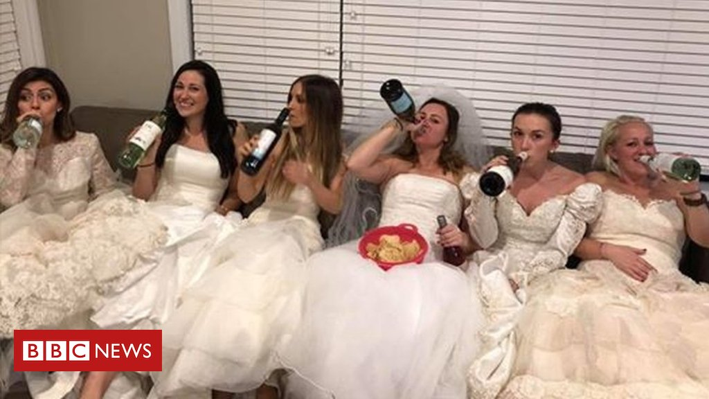 Canadian friends hold wedding-themed divorce party