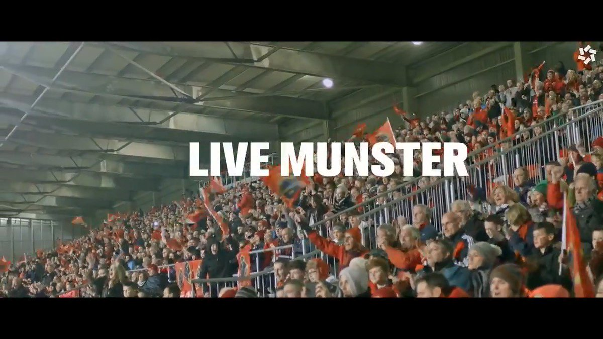 A determined team, Devoted fans, Unrivalled passion… Live Rugby Live The Jersey #LiveMunster https://t.co/I1mi5dqiRL