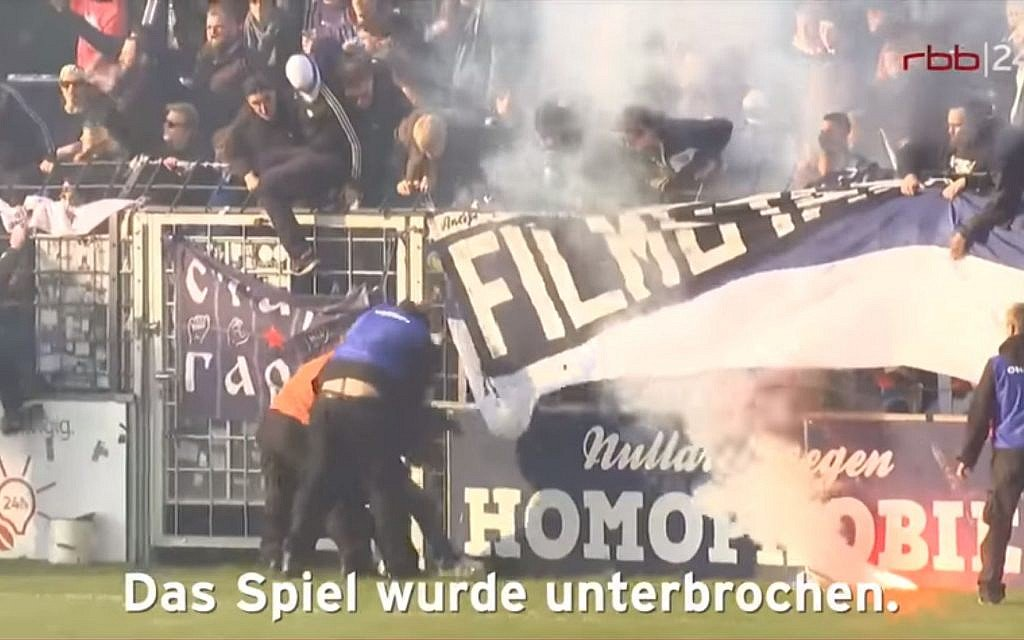 German soccer club refuses to pay fine after opposing fans shout Nazi taunts