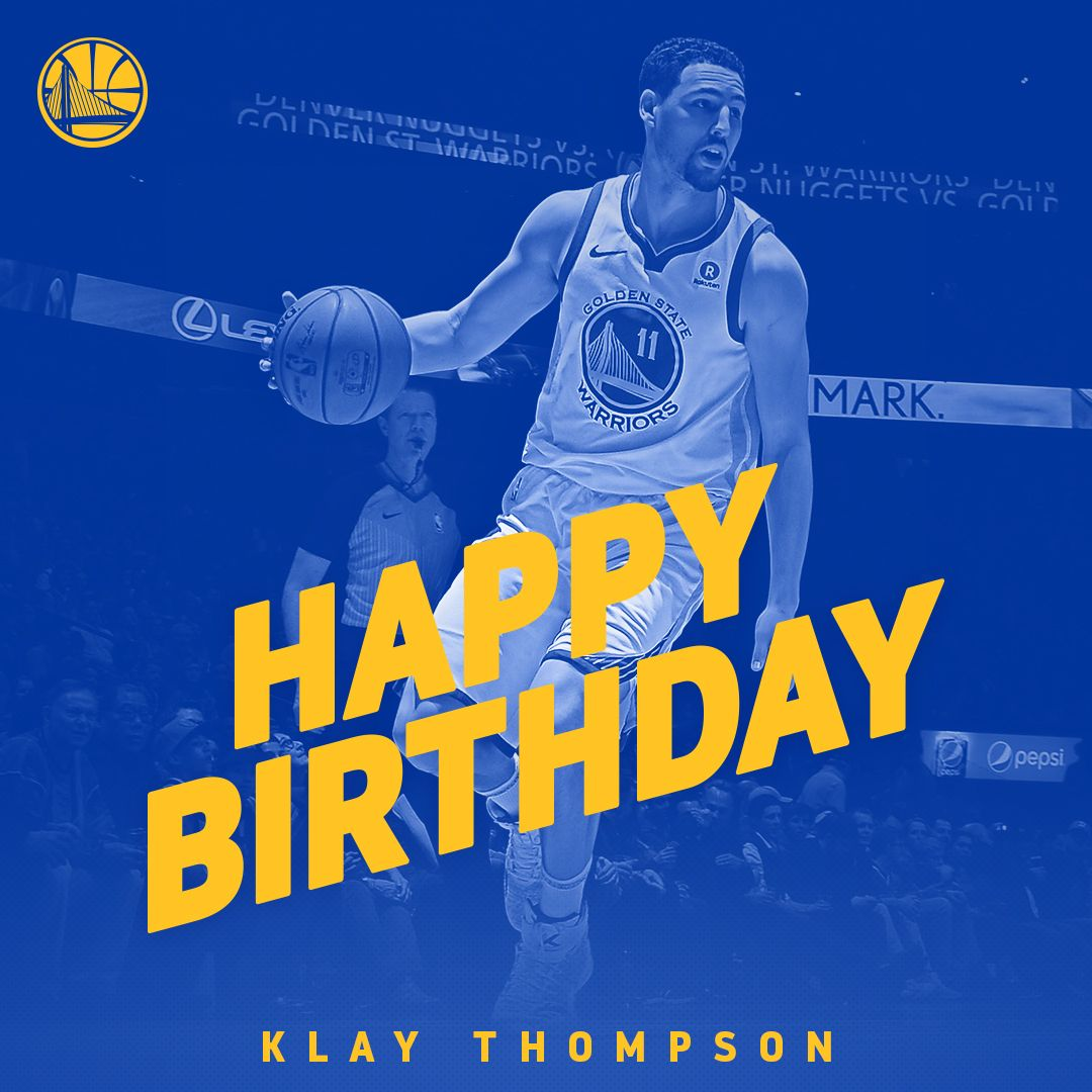 #DubNation, please join us in wishing @KlayThompson a very Happy Birthday �� https://t.co/hMKEVFuj40