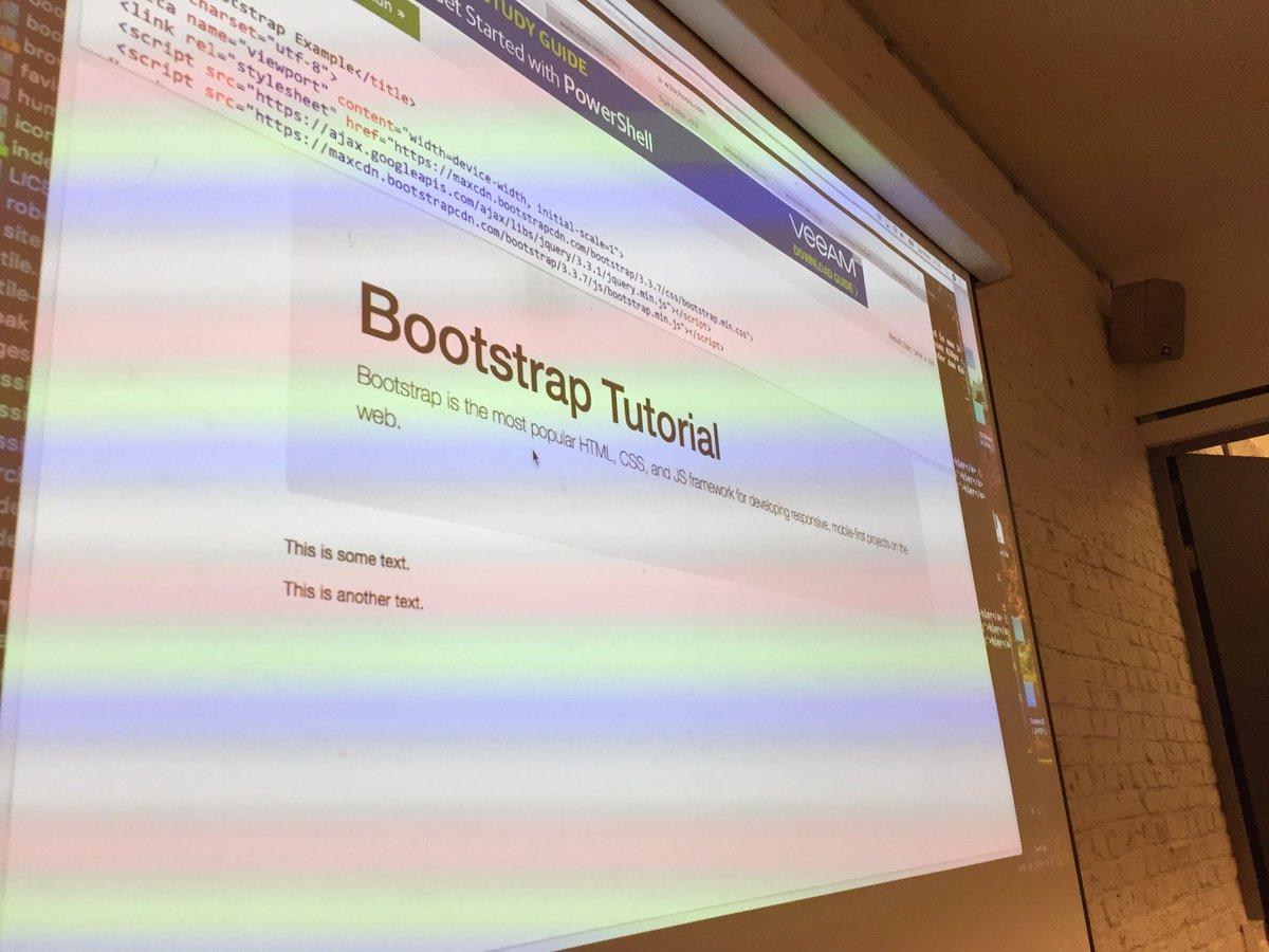 Het #bootstrap framework leren gebruiken #webdesign @SYNTRABrussel #teaching https://t.co/67KWVbcRVs