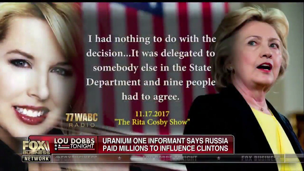 Uranium One informant says Moscow paid millions in bid to influence Clinton https://t.co/keQ4nhRKnb https://t.co/8CfhFeldDG