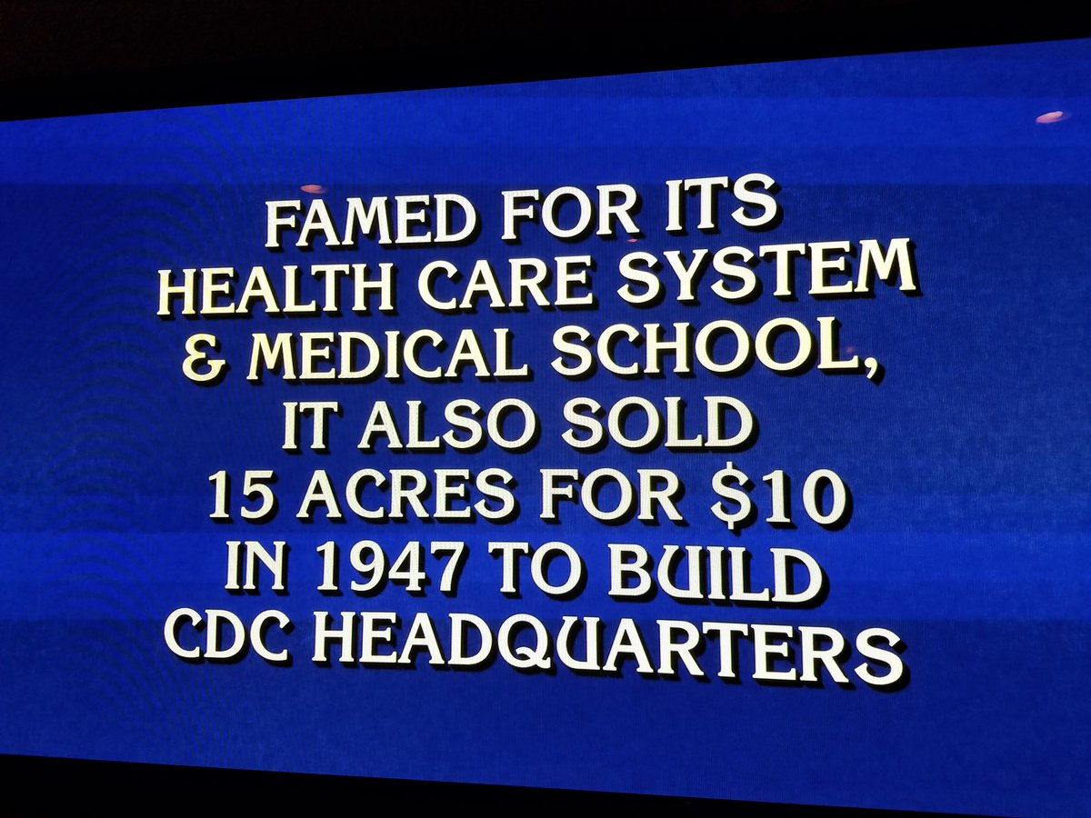 Guess which university was just the answer to this Final @Jeopardy question! https://t.co/54poUTXnMZ