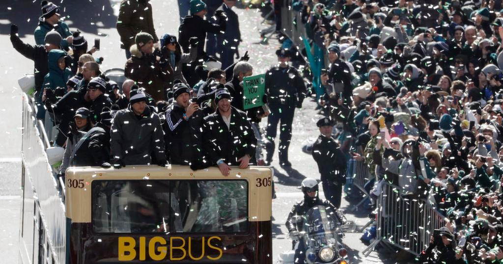 Eagles fans line Philadelphia streets for victory parade to celebrate Super Bowl win