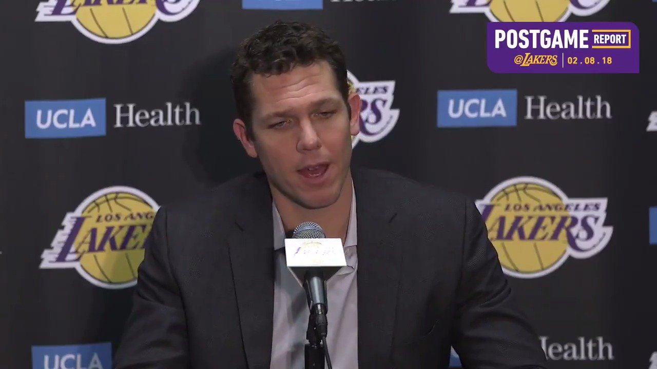 �� Head Coach Luke Walton talks after the Lakers 106-81 win over the Oklahoma City Thunder https://t.co/bxPojIubyb