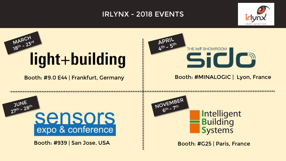 test Twitter Media - Don't miss our upcoming events !! Feel free to contact us if you're interested to meet us. #lightbuilding #sido #sensors18 #IBS https://t.co/PHqvX7iojK