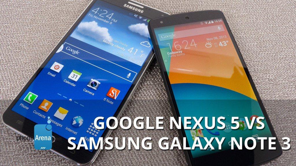 Google Nexus 5 vs Samsung Galaxy Note3 https://t.co/mxeOCL3bVV...