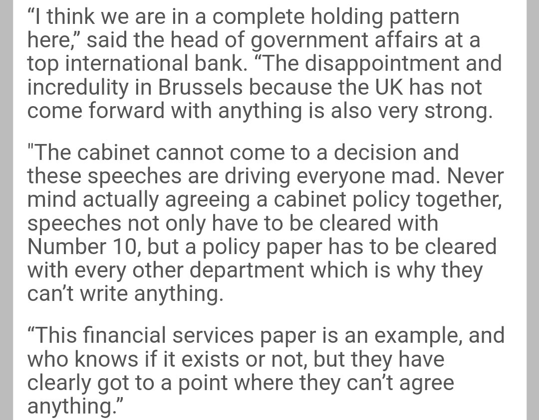 Banks seem to be giving up on the govt ever reaching a decision on Brexit https://t.co/5qOpCP381G https://t.co/J9rxxpd7bK