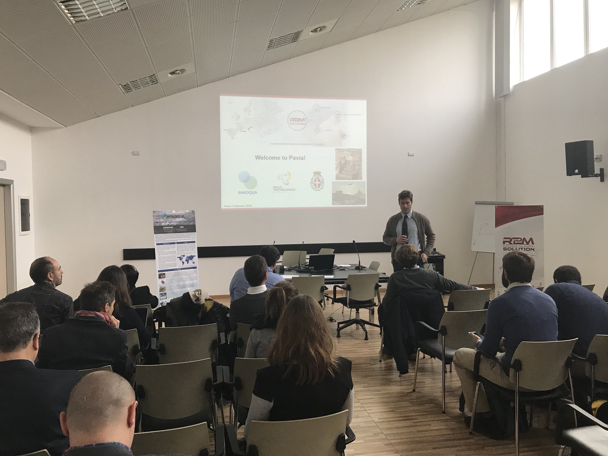 We are happy to have hosted the @innoqua_project  Team for the PM4 meeting in the @r2m_italy headquarters in Pavia. A further step towards the development of a new nature-based technology for wastewater treatment has been done. Thanks to all the partners involved. https://t.co/jZ5ZRR5TxR