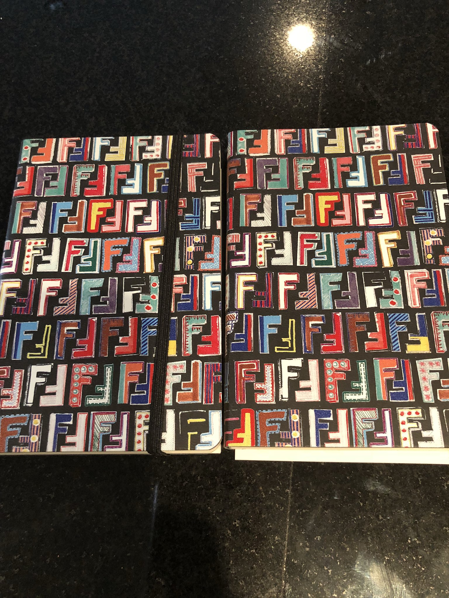 Thank u @Fendi for my notebook to write my Quotes & Rhymes in��������✍�� https://t.co/3az3EBjTIv