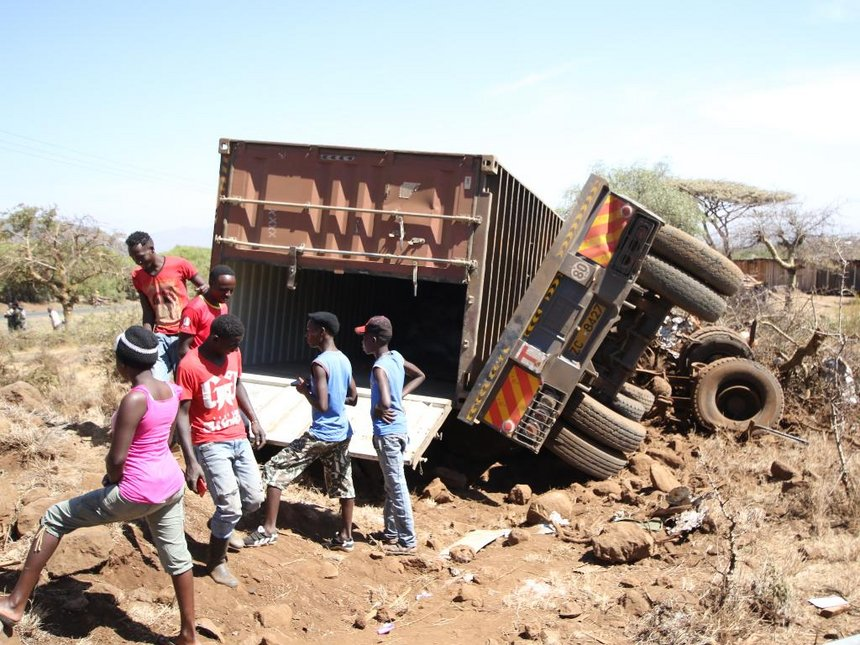 Four dead after truck rams houses, catches fire at Buuri, Meru county