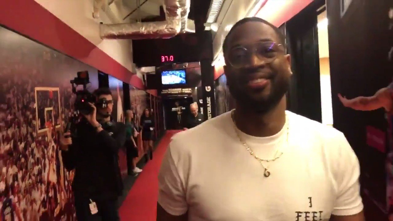 That #HEATVICE #3 jersey will make its first appearance tonight ��  @DwyaneWade is excited about it! https://t.co/uyPUZ0F0Zz