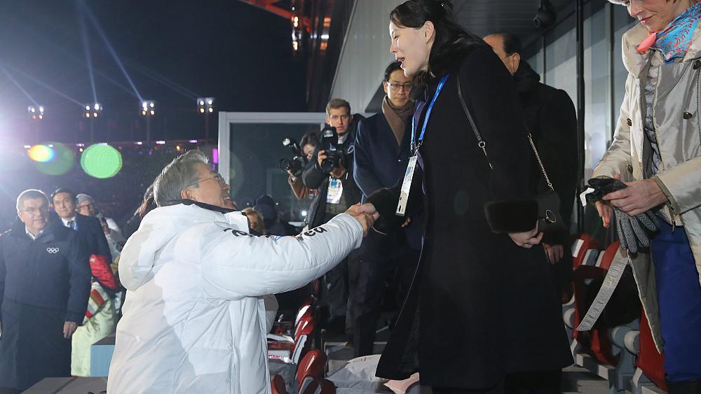 Winter Olympics kicks off with historic handshake