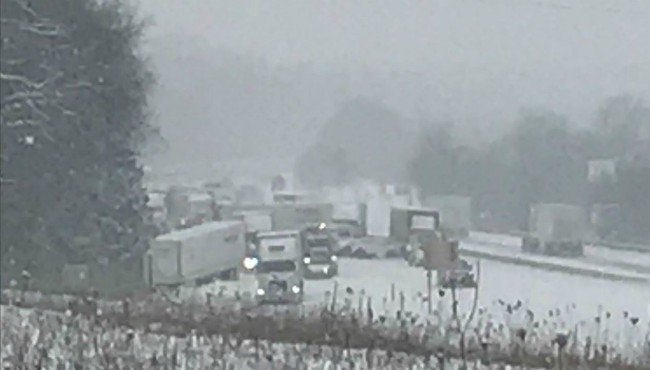 MSP: Pileup involving about 50 vehicles closes EB I-94 in west Michigan
