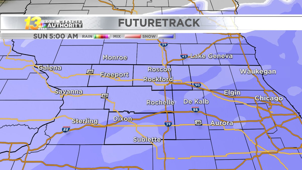 Snow sweeps into weekend