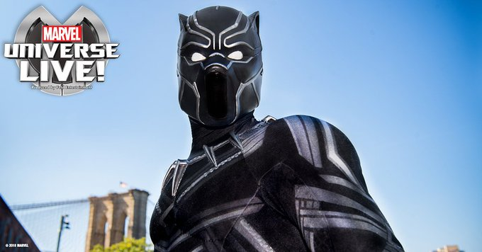 See Black Panther in Marvel Universe LIVE!