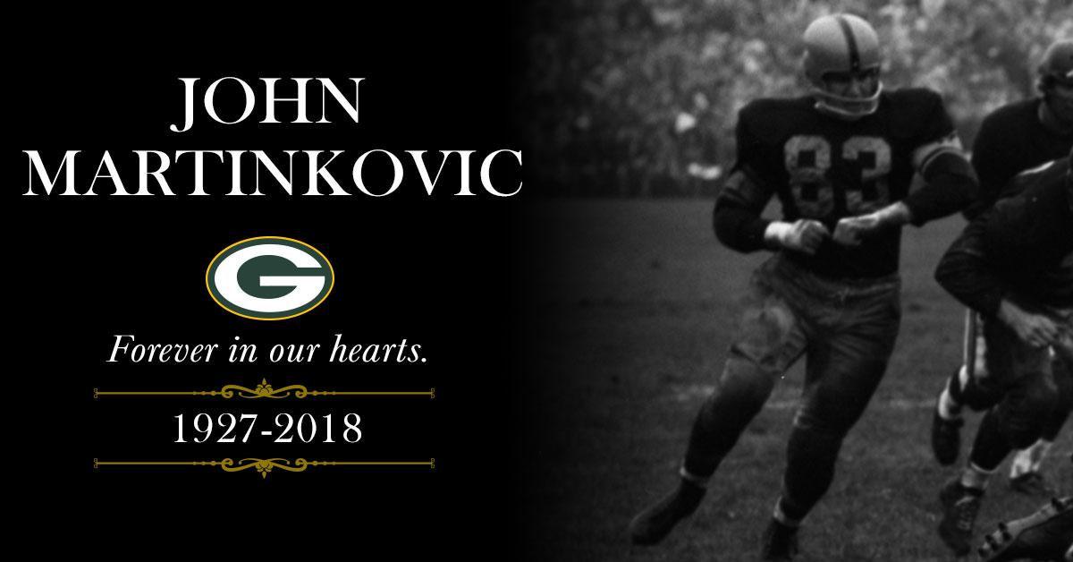 #Packers Hall of Famer John Martinkovic has passed away at age 91: https://t.co/biczzus9lO https://t.co/75PLw0rcTh