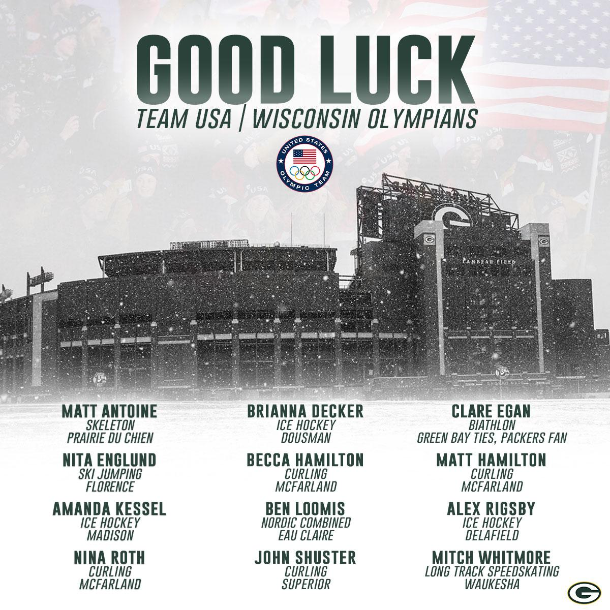 Let's go #TeamUSA, especially our Wisconsin Olympians!  #Olympics https://t.co/1HkWTAwEJm