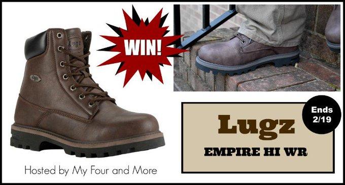 Lugz Empire HI WR Mens Boots Giveaway Ends 2/19