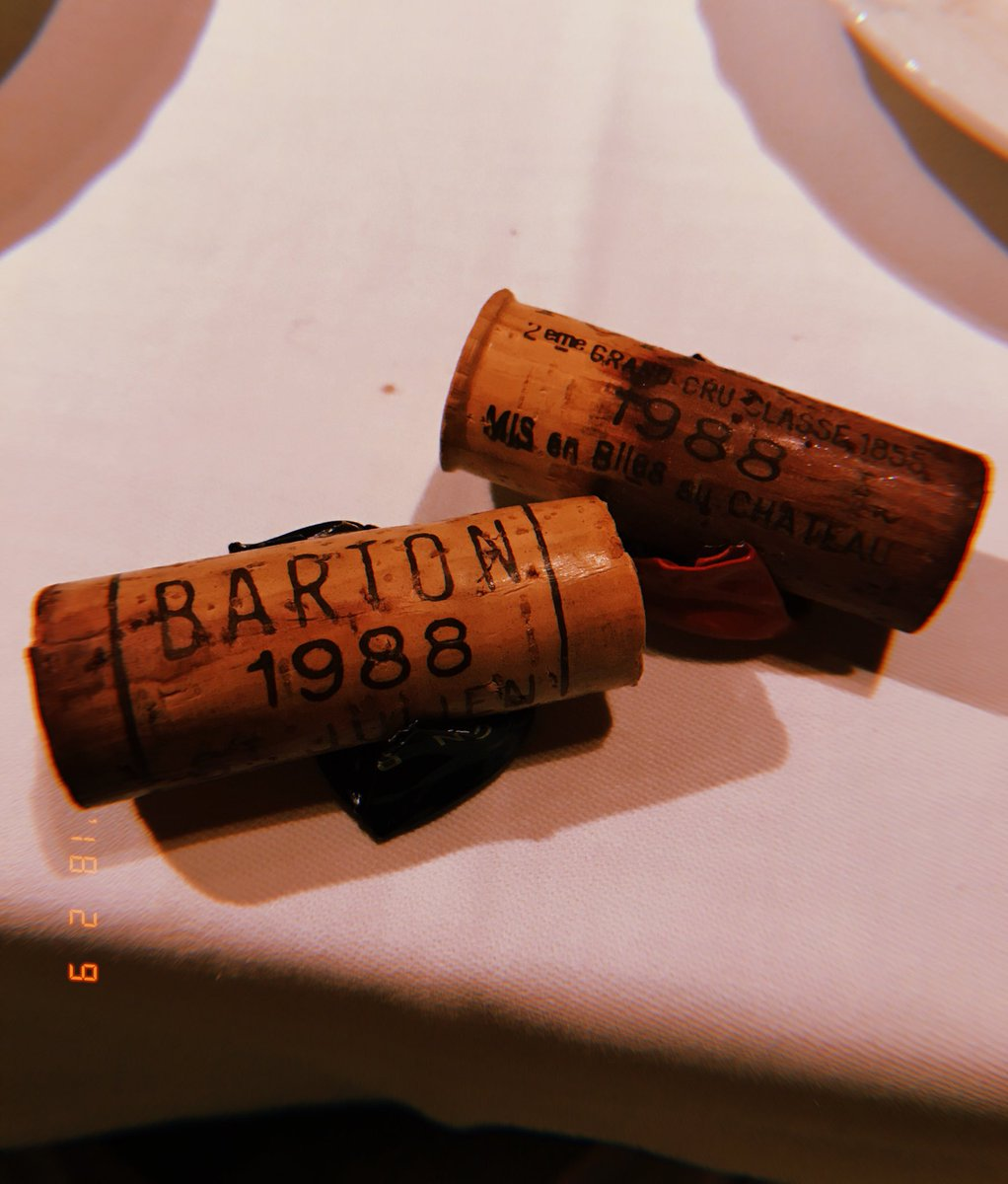 First time having 1988 vintage. Now I understand what it means to age like wine. https://t.co/Y89C4b6SF3