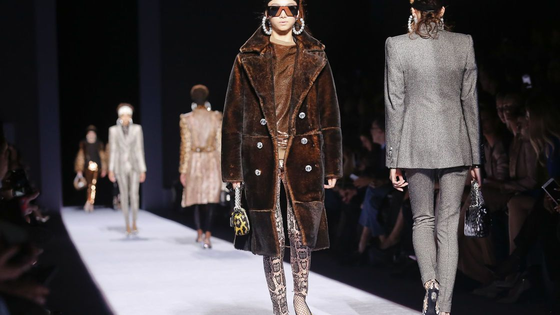 New York Fashion Week in photos: Sparkles, fake fur, and an '80s LA vibe