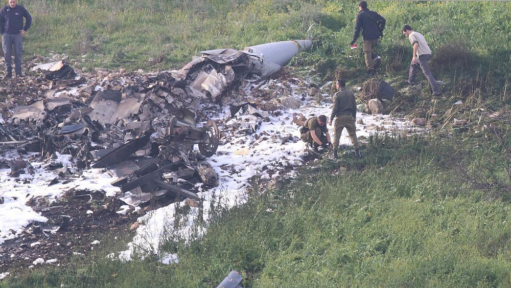 Israeli fighter jet crashes under Syrian fire, says military