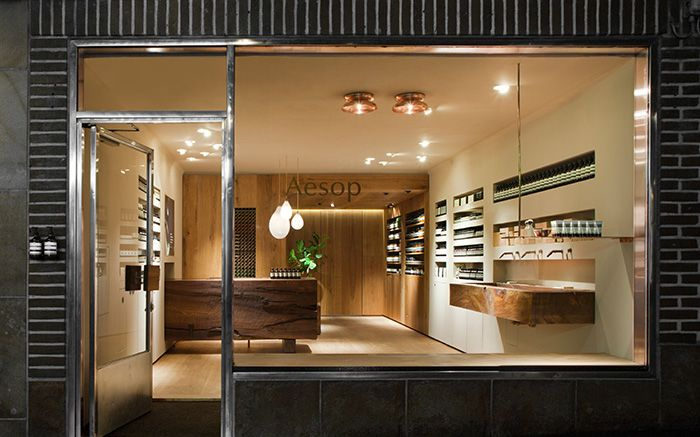 Aesop Bibliotekstan, a space of natural warmth and striking geometry, is once again open in central Stockholm. https://t.co/eRFP5d1ex9