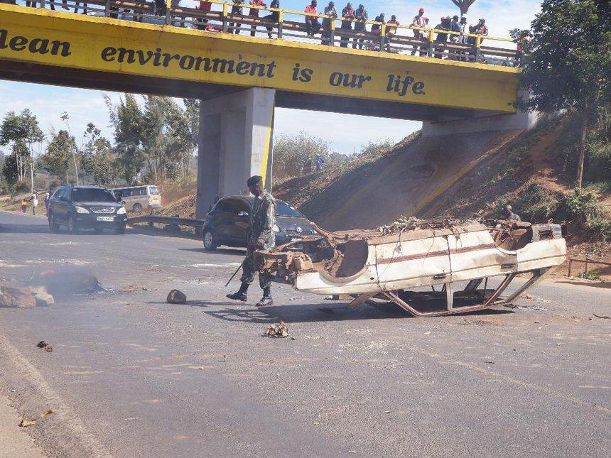 Arrest Ngilu, Kiambu residents demand after charcoal lorry burnt