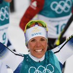 Winter Olympics: Sweden's Charlotte Kalla wins first gold medal