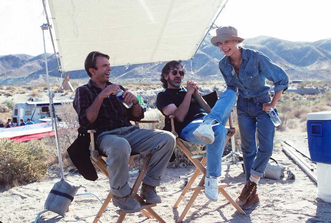 Happy Birthday Laura Dern! Here s one of our favourite behind-the-scenes shots from Jurassic Park
