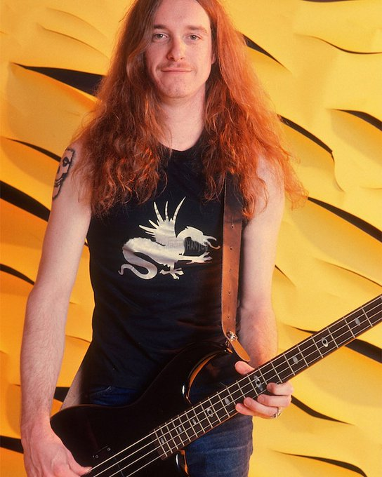 Happy birthday to the late and legendary Metallica bassist, Cliff Burton.