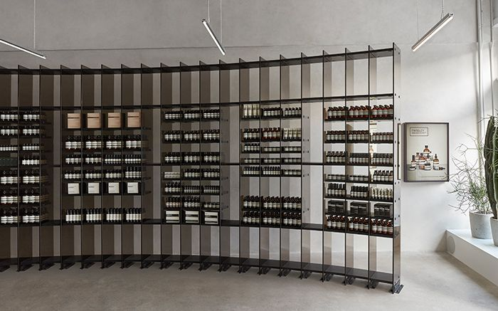 Aesop Bishop Arts: a space of flamed Red Oak, aluminium and tinted glass: https://t.co/qhQdxWabZW https://t.co/7lYMmv34x5