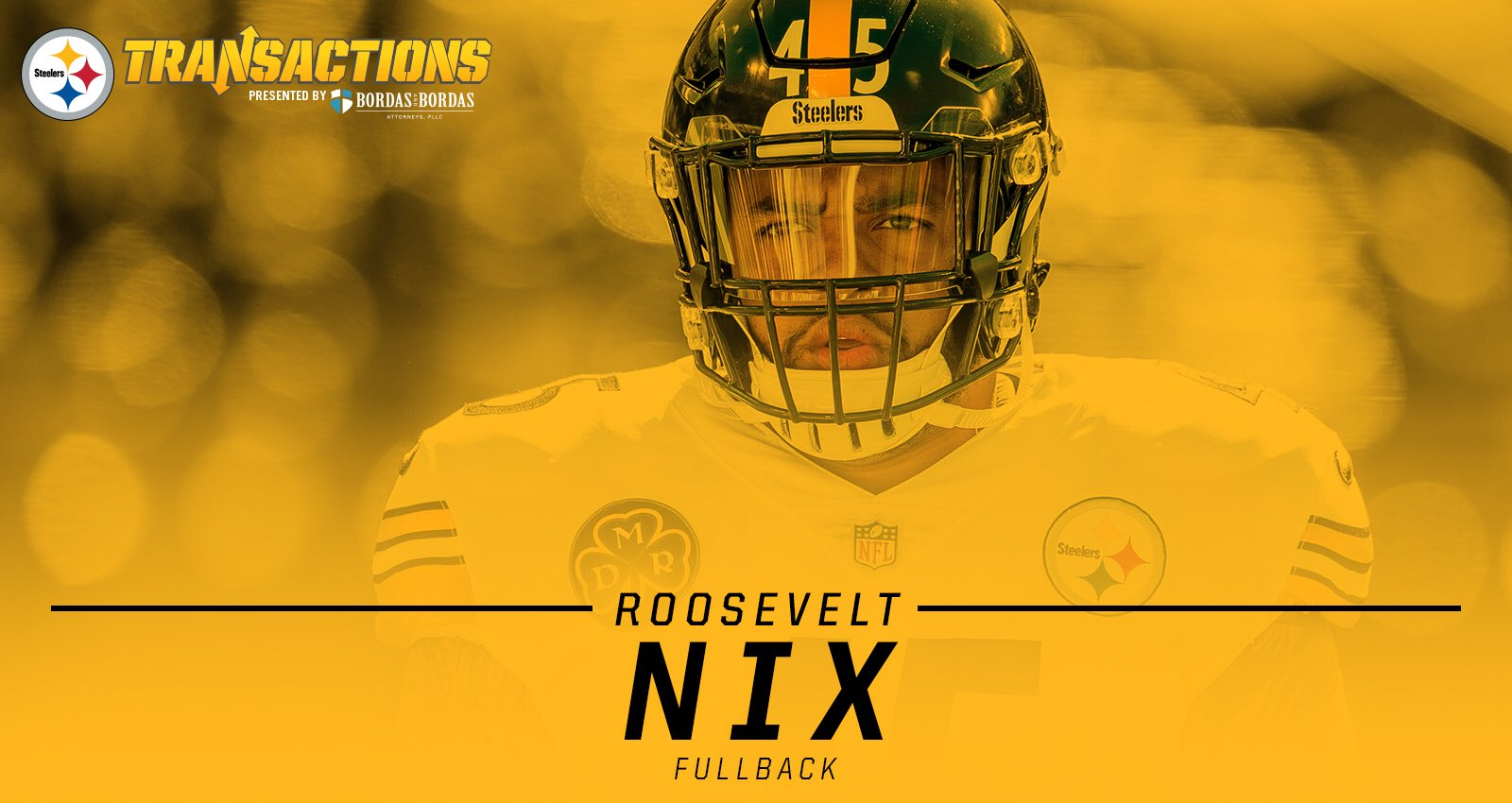 We have signed FB Roosevelt Nix to a new four-year deal.   MORE: https://t.co/3ehqIEnOD6 https://t.co/FrWcq1X2eE