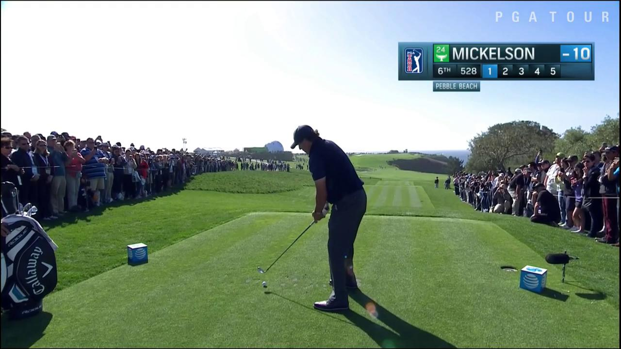 First 2 shots: 528 yards Next 3 shots: 18 feet  That's golf. #QuickHits https://t.co/Dso2OkF06g