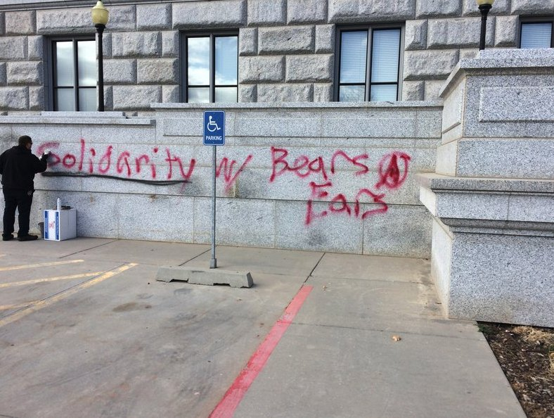 Taggers hit Utah's Capitol with Bears Ears message, police investigating