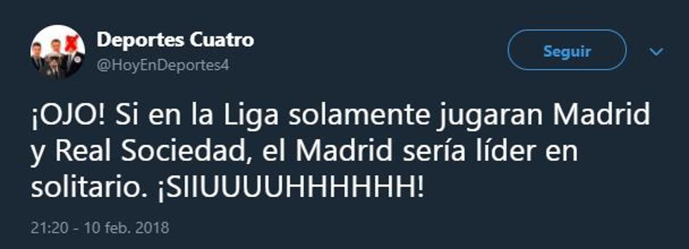 RT @mundodeportivo: ¡No te pierdas los mejores 'memes' del Madrid-Real Sociedad! ???????????? https://t.co/cqEOng6r7g https://t.co/C4mDKpcuNp