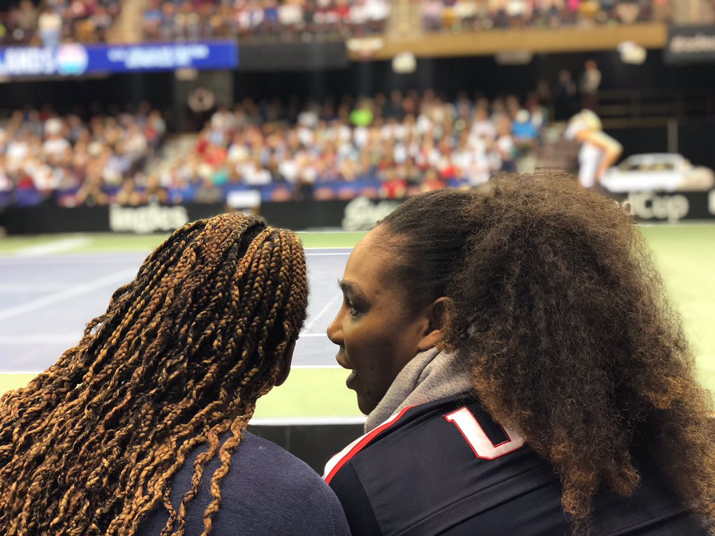 Me and my boo @serenawilliams ❤️❤️ https://t.co/NlTcvCKoDL