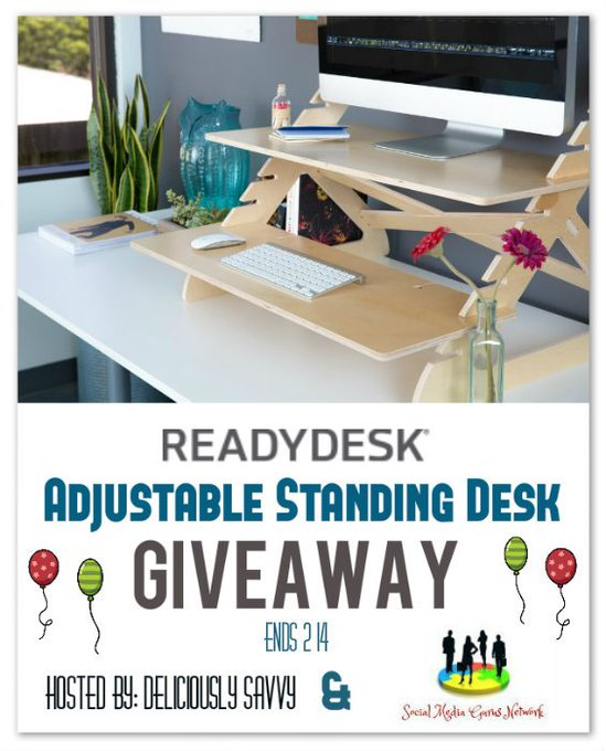 Readydesk ~ Adjustable Standing Desk Giveaway!