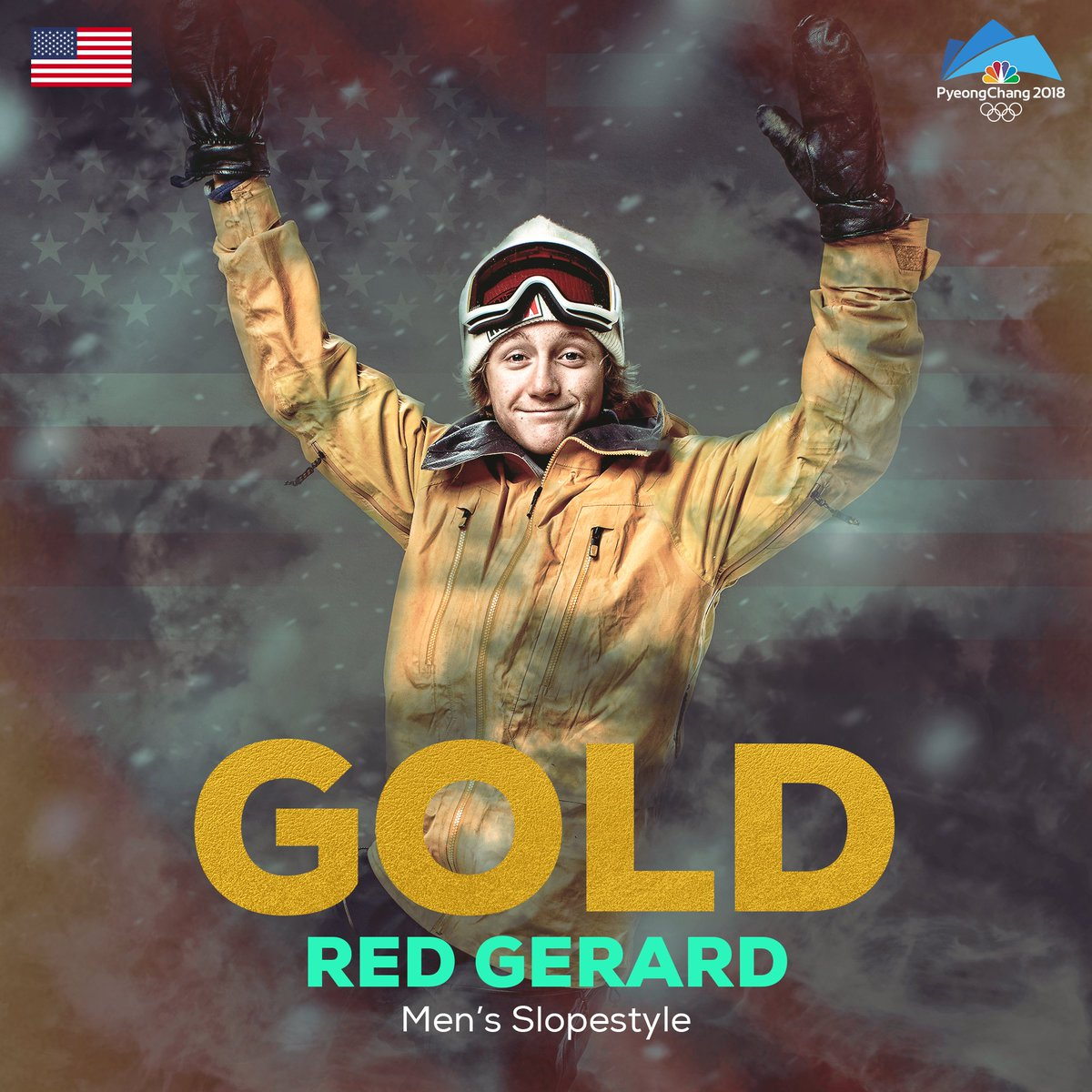 RT @NBCOlympics: It's a gold for @RedmondGerard!  He delivers @TeamUSA's first medal of the 2018 #WinterOlympics https://t.co/yYJxr13ApM