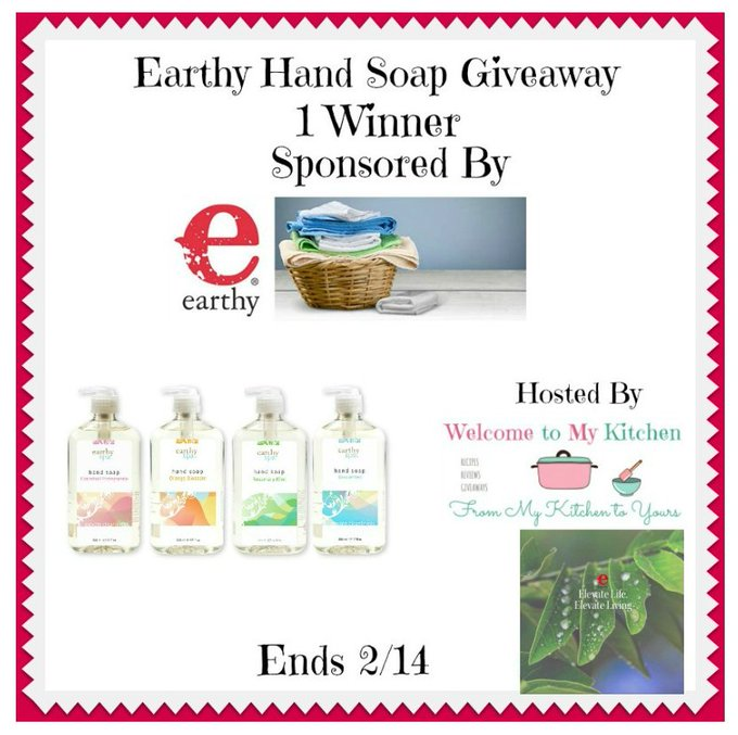 Earthy Hand Soap Giveaway 1 Winner