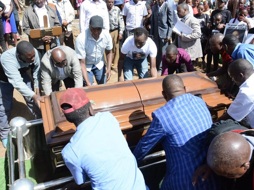 Mary Waithera, Kenyan medic murdered in Germany buried in emotional sendoff