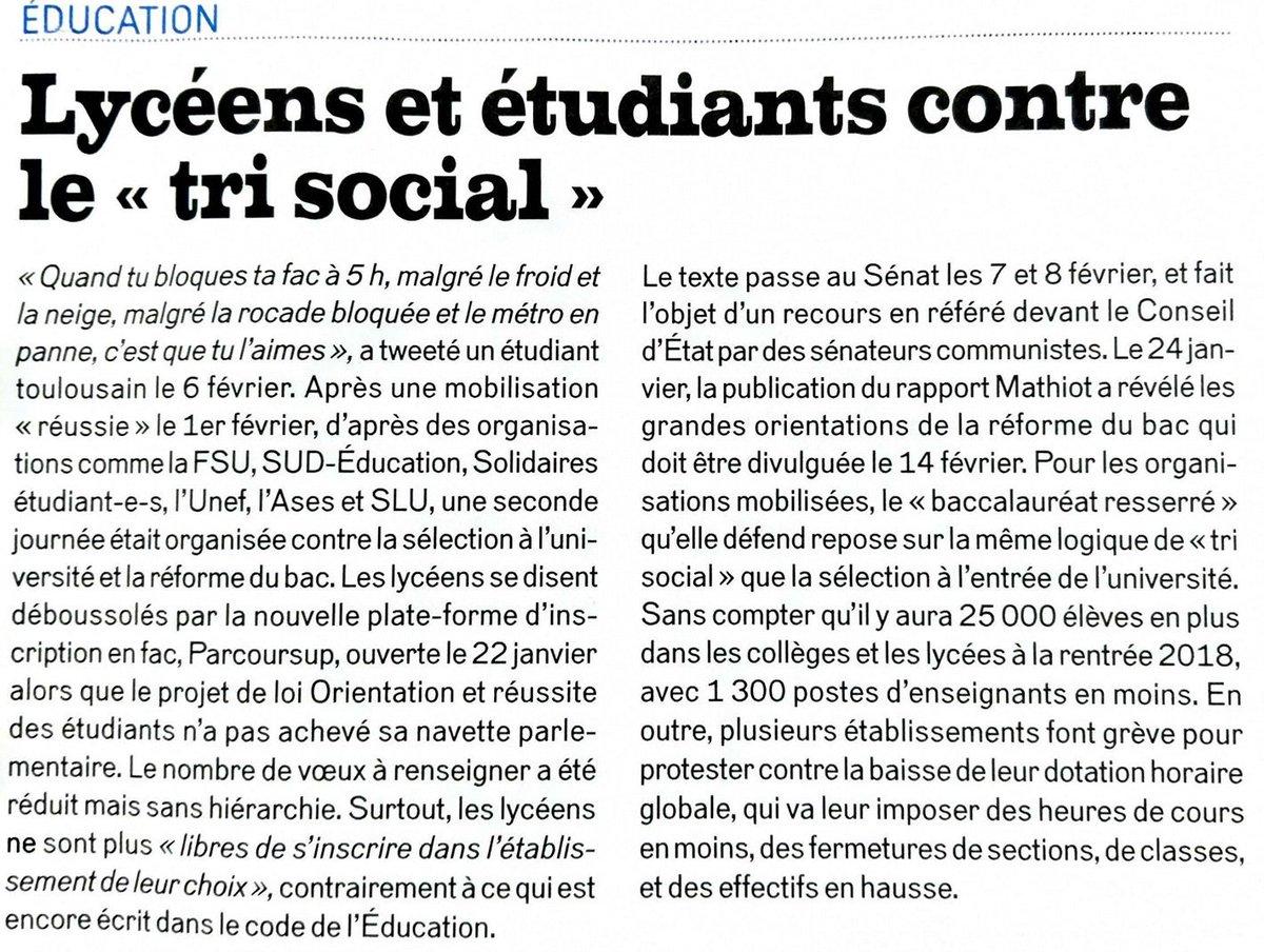 test Twitter Media - Lycéens et étudiants contre le « tri social »... Ainsi que les parents @FCPE67 #ParcourSup #NonALaSelection  Lu dans @Politis_fr https://t.co/Dw2Wz7dY7T