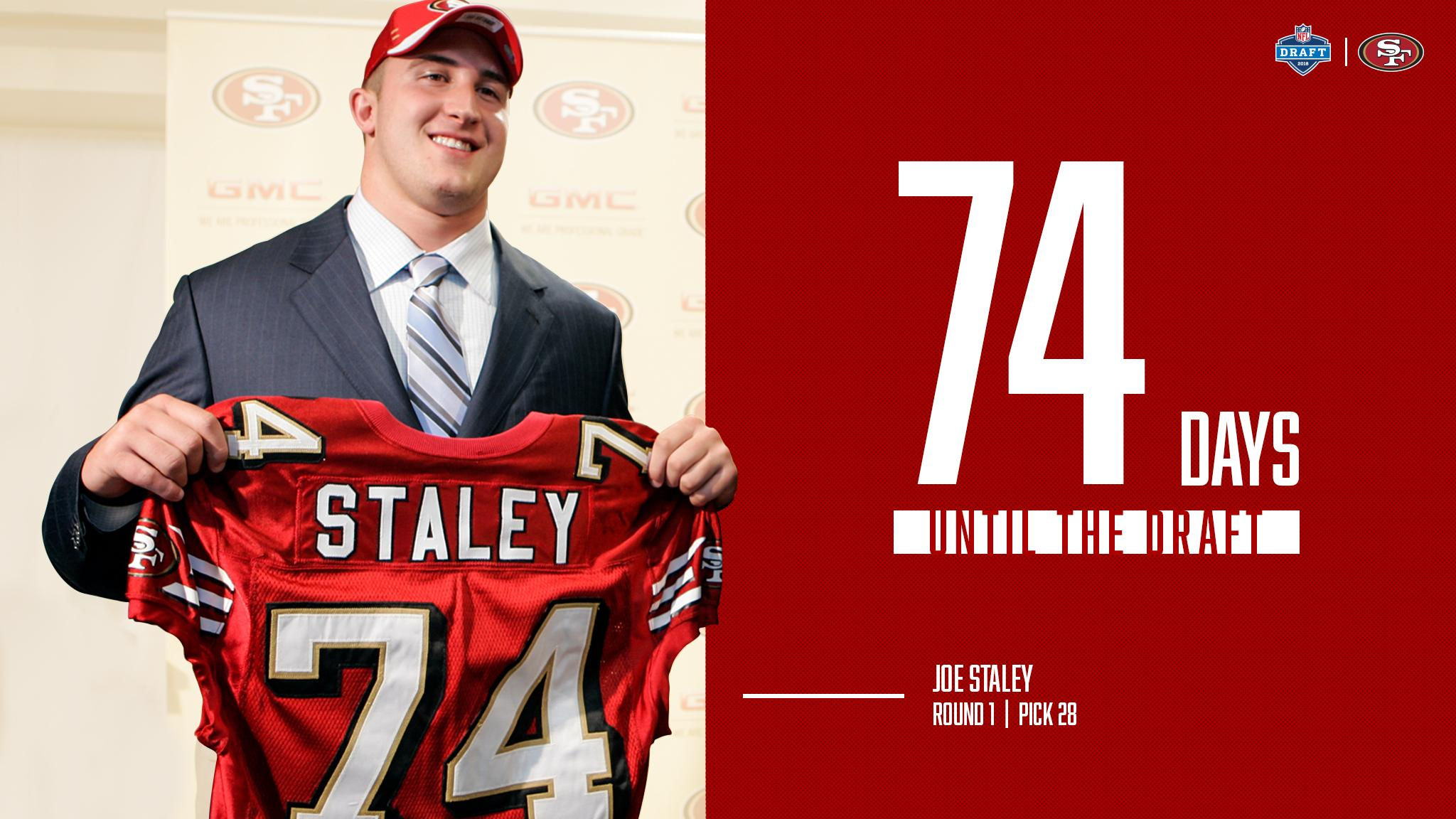 April 28th, 2007 - @jstaley74 became a member of the #49ers family.   74 days 'til the 2018 #NFLDraft! https://t.co/ZjyVm2cp1u