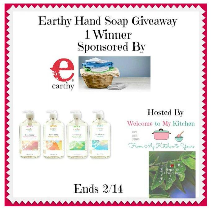 Earthy Hand Soap Giveaway 1 Winner
