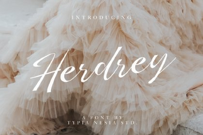 Herdrey Script Font Demo Fonts freebies design MarameStudio