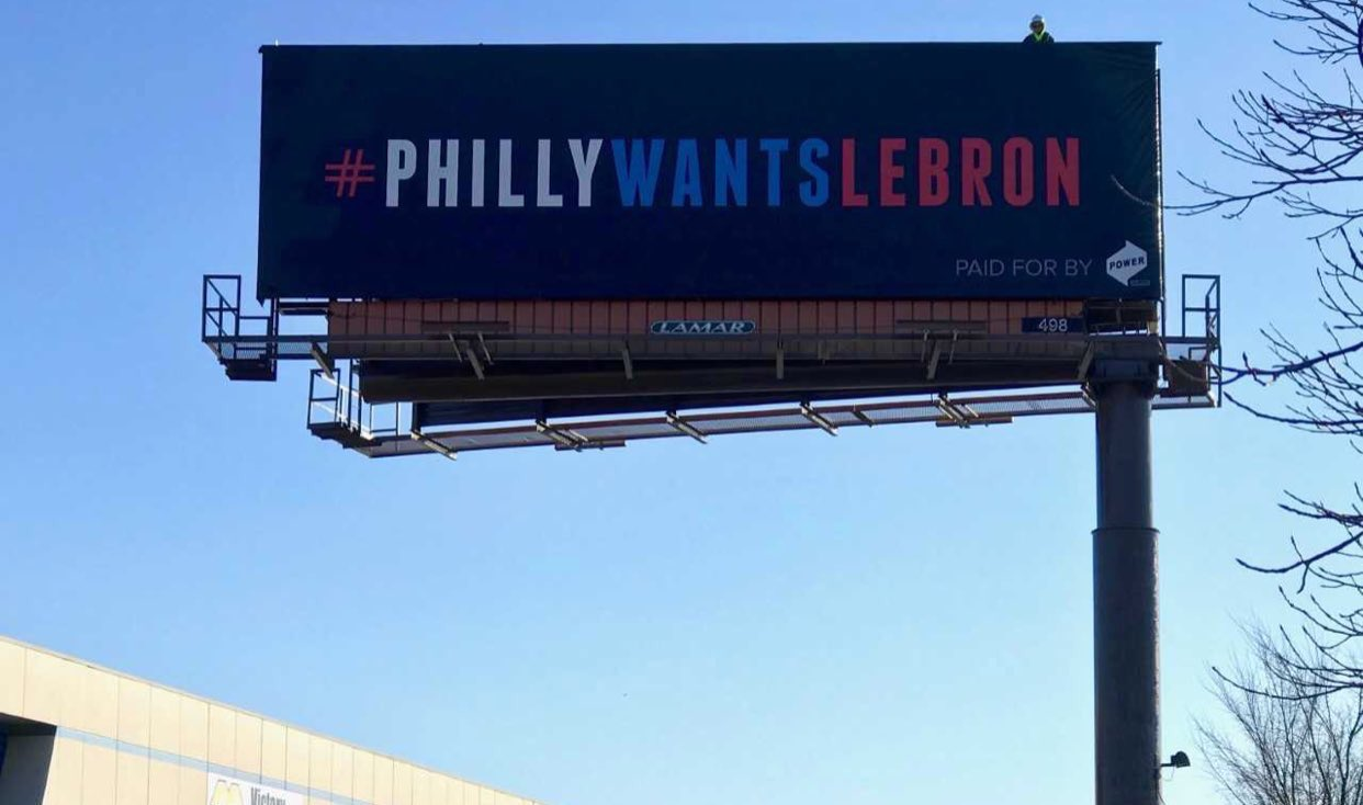�� A few new billboards popped up in downtown Cleveland over the weekend.   �� ➡️ Philly ��? https://t.co/RbeGGYEwhF